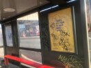 Graffiti on bus shelter