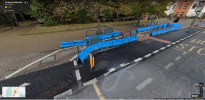 Barriers on raised cycle lane unstable